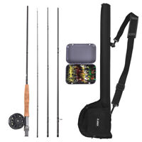 9' Fly Fishing Rod and Reel Combo with Carry Bag 20 Flies Complete Starter