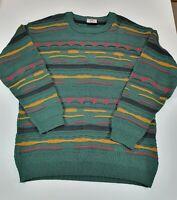 Vintage Mens Terranova XXL Knitted Multi-coloured Wool Jumper
