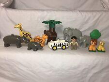 Lego DUPLO African Animals Zoo Safari Lot Plus Vehicle Mini Figure Building Toy