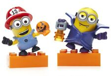 Fireman and Vampire Minions Halloween Mega Bloks Despicable Me Rare (Set of 2)