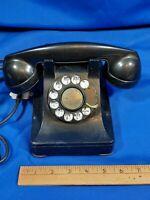 Rotary Desk Telephone F1 Antique-VTG 1930s Bakelite Bell System Western Electric