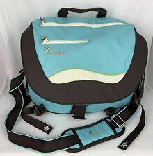 Sherpani Flora Major Messenger Bag  Women's Blue Brown Large Gym Bag Travel J