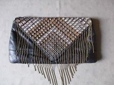 Dune Black Leather Handbag with studs (NWOT)