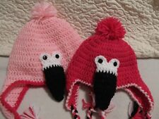 Crochet Pink Flamingo Hat/Beanie - Made to Order - Baby to Adult Sizes