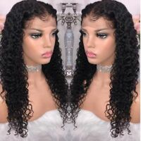 Lace Front Wig Full Wigs Deep curly US Pre Plucked Black Human Hair