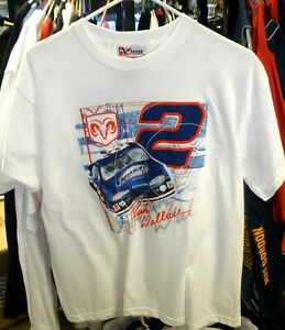 CHASE #2 PENSKE RACING WHITE YOUTH TEE SHIRT RUSTY WALLACE LARGE 14/16