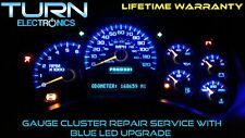 03-06 CHEVY SILVERADO SPEEDOMETER INSTRUMENT CLUSTER GAUGE REPAIR W/ BLUE LED'S