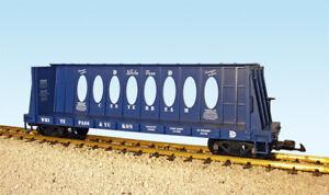 USA Trains R17408 G White Pass & Yukon Centerbeam Flatcar Blue