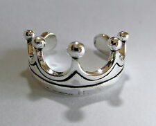 Sterling Silver (925) Adjustable  Crown  Band Toe Ring  !!     Brand New !!