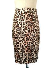 REVIEW Pencil Skirt - Leopard Animal Print Brown Pink Vintage Style Designer - 6