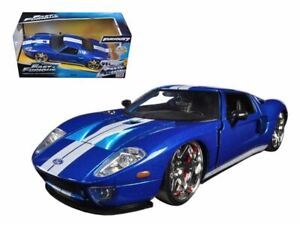 1:24 Ford GT Blue with White Stripes -- Fast & Furious JADA