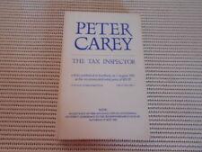 Peter Carey - The Tax Inspector. Advanced Copy.