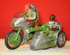 1985 GI JOE SILVER MIRAGE MOTORCYCLE BIKE Near Complete + DRIVER 1994 BULLHORN *