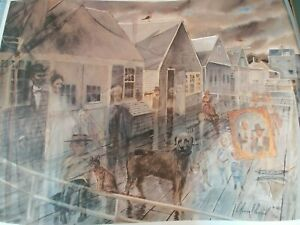 Nantucket Lithograph by C.Robert Perrin a.w.s. (1915-1999)