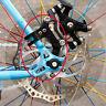 Adjustable Black Bicycle Bike Disc Brake Bracket Frame Adaptor Mounting Holder