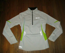 PEARL IZUMI P.R.O. Thermal White L/S 1/2 Zip Reflective Cycling Top Womens Sz S