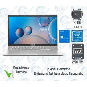 "COMPUTER PORTATILE NOTEBOOK ASUS X515M 15,6"" RAM 4GB SSD 256GB WEBCAM WIN10 PRO"