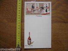 MENU VIERGE Cherry Rocher grande liqueur JAN entre amis circa 1900