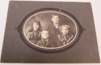 Antique Cabinet Photo Of The Snyder Children -A1