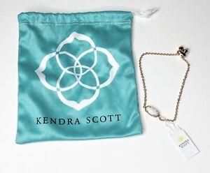Kendra Scott Elaina Adjustable Chain Bracelet Gold Tone White Ivory $50