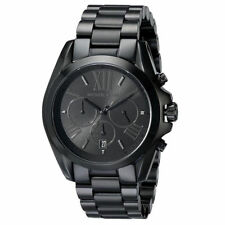 Michael Kors MK5550 Bradshaw All Black Tone Chronograph New Unisex Wrist Watch