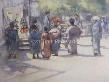 Japón en frente de la manada Original 1901 Color Print Por Mortimer menpes