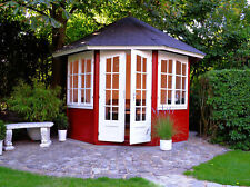 Palmako Gartenpavillon Veronica-2 6,7 m² Ø 289 cm Pavillon Unterstand Laube