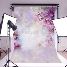 7x5ft purple Flower Baby Photography Background Vinyl Studio Photo Prop Backdrop