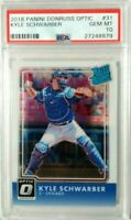 Kyle Schwarber 2016 Panini Optic Rated Rookie # 31 PSA 10 Gem Mint Hot Rookie rc