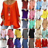 Plus Size Ladys Summer Beach Baggy Shirts Blouse Kaftan Loose Tunic Tops T Shirt