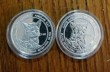 (2) Andean Cat 2011 Royal Silver Company .99999 1oz Silver Coins!