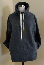 J.CREW COWLNECK SWEATSHIRT Small S Heather BLUE Lounge Sweater PJ  $110 NEW NWT