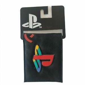 Playstation Logo  Kanji Gamer Rubber Patch Bifold Wallet Officially Lisensed