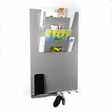 Silver 3 in 1 Magnetic Memo board letter rack and key holder by The Metal House