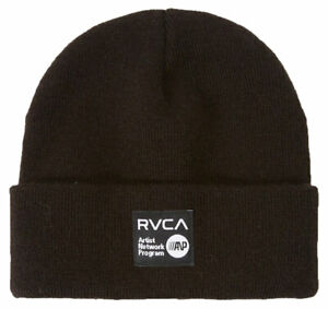 RVCA ANP Cuff Beanie - Black - New