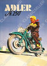 Adler M 250 Motorrad Poster Plakat Bild Kunstdruck M250