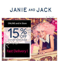 ✔️✔️ 2 (TW0) Janie and Jack 15% off COUPON CODE - Exp 09/13/20 *Instant Delivery