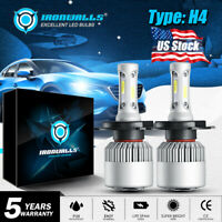 IRONWALLS H4 HB2 9003 2000W 300000LM LED Headlight Kit Hi/Lo Power Bulb US 6000K