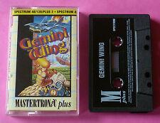 Sinclair ZX Spectrum - Mastertronic GEMINI WING Tecmo 1990 *NEW!