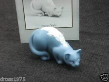 "Franklin Mint Curio Cabinet Cat Collection ""Parian Style"" with booklet Rare!"
