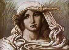 Vedder Elihu Head Of A Young Woman 1900 A4 Print