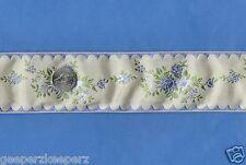 "Jacquard Woven Floral Elegant Ribbon Trim 2""w BTY Quilts/ Dolls/ Bears/ Decor"