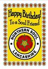 NORTHERN SOUL (LANCASHIRE) - Happy Birthday CARTONCINO - brillante finitura -