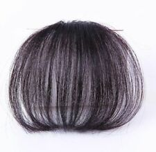 Thin Neat Human Air Bangs Clip In Natural Fringe Front Hairpiece Hair Extensions