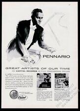 1955 Leonard Pennario portrait at piano Capital Records vintage print ad