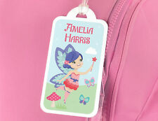 Fairy & Butterflies Luggage Bag Tag - Personalised for Girls
