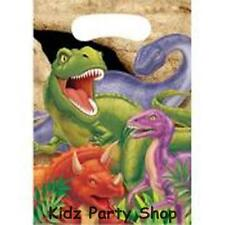 Dino Blast Dinosaur Party - 8 Plastic Loot Bags - Free Postage in UK