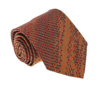 Missoni U4762 Orange/Red Grenadine 100% Silk Tie