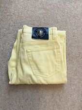 Vintage Versace Jeans Couture Medusa Yellow 90s Size 8 10 26 40 High Waisted