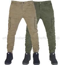 Pantaloni Uomo Cargo con Tasche Laterali EffeDenim Multitasche con Tasconi slim
